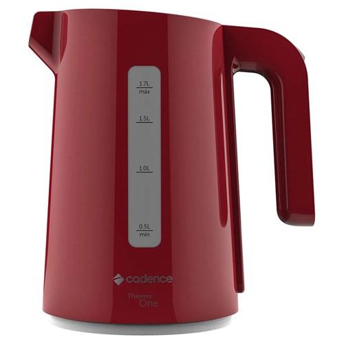 Chaleira Elétrica Cadence Thermo One Colors - 1,7L Vermelha 1200w CEL381 110v