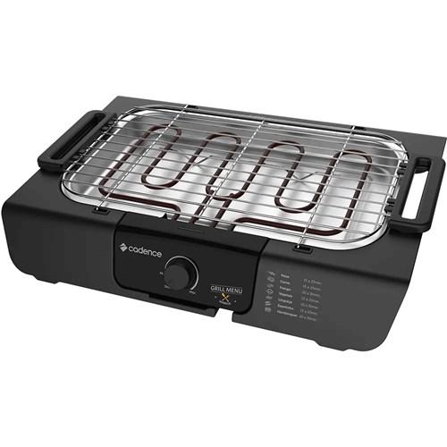 Churrasqueira Elétrica Portátil Cadence - GRL810 Preta 1800w 110v
