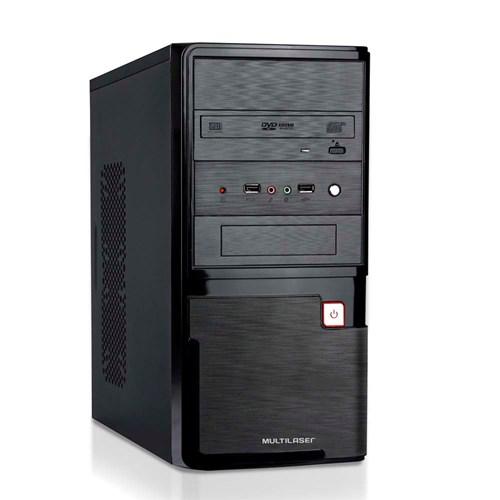 Computador Multilaser Intel Celeron 4GB 500GB HD Linux Preto Com Teclado/Mouse/Caixa de Som - DT024