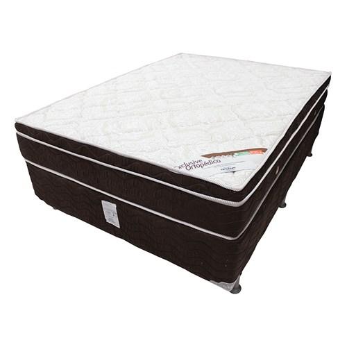 Conjunto Box Casal Ortobom 138x188 - Exclusive Ortopédico
