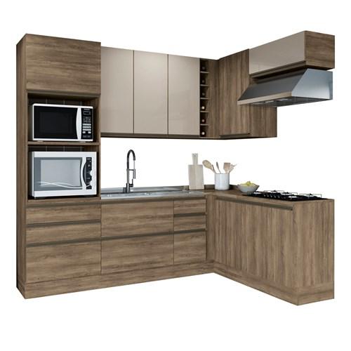 Cozinha CB395 Maxx Kappesberg 9 Peças - Nogal
