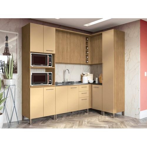 Cozinha CB541 Aurea Kappesberg 7 Peças - Feijó/Champagne