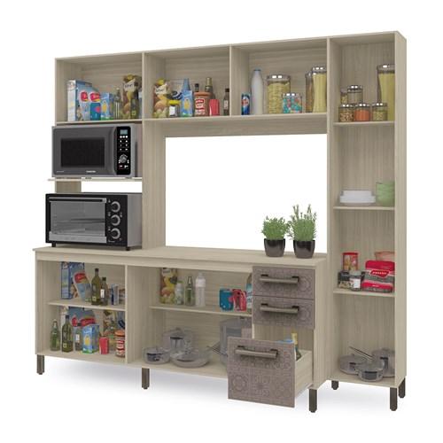 Cozinha Compacta E780 Kappesberg - Amendoa/Moka