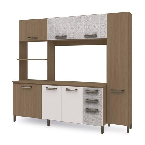 Cozinha Compacta E780 Kappesberg - Nature/Branco