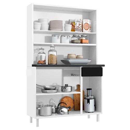 Cozinha Compacta Telasul Rubi 03  - 811223 Branco/Preto
