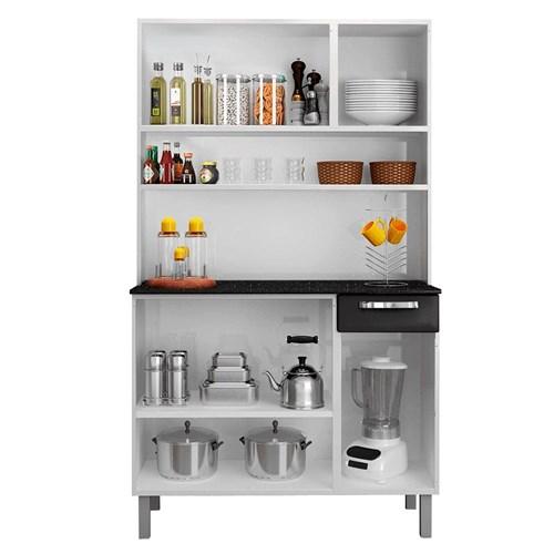 Cozinha Itatiaia 6 Portas Rose I3G1-105 - Branco c/ Preto