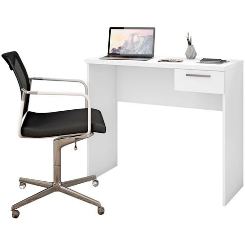 Escrivaninha Notavel Office NT2000 - Branco 1 Gaveta