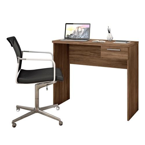 Escrivaninha Notavel Office NT2000 - Nogal 1 Gaveta