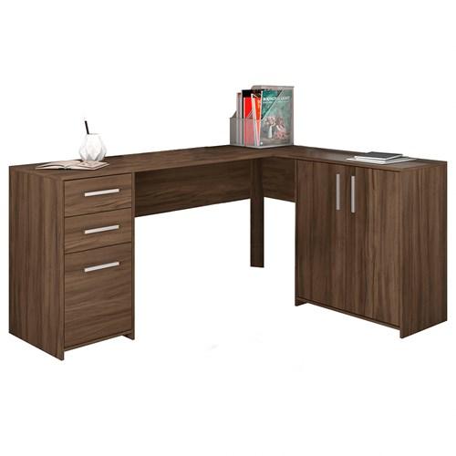 Escrivaninha Notavel Office NT2005 - Nogal 3 Gavetas e 2 Portas