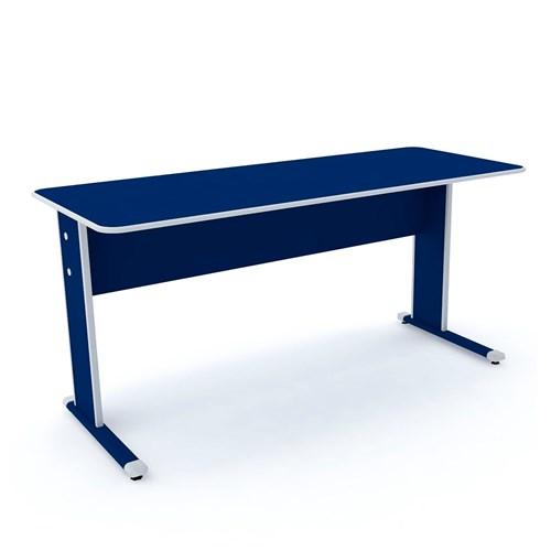 Escrivaninha Pandin MX-150 - Azul/Cinza 2 Gavetas
