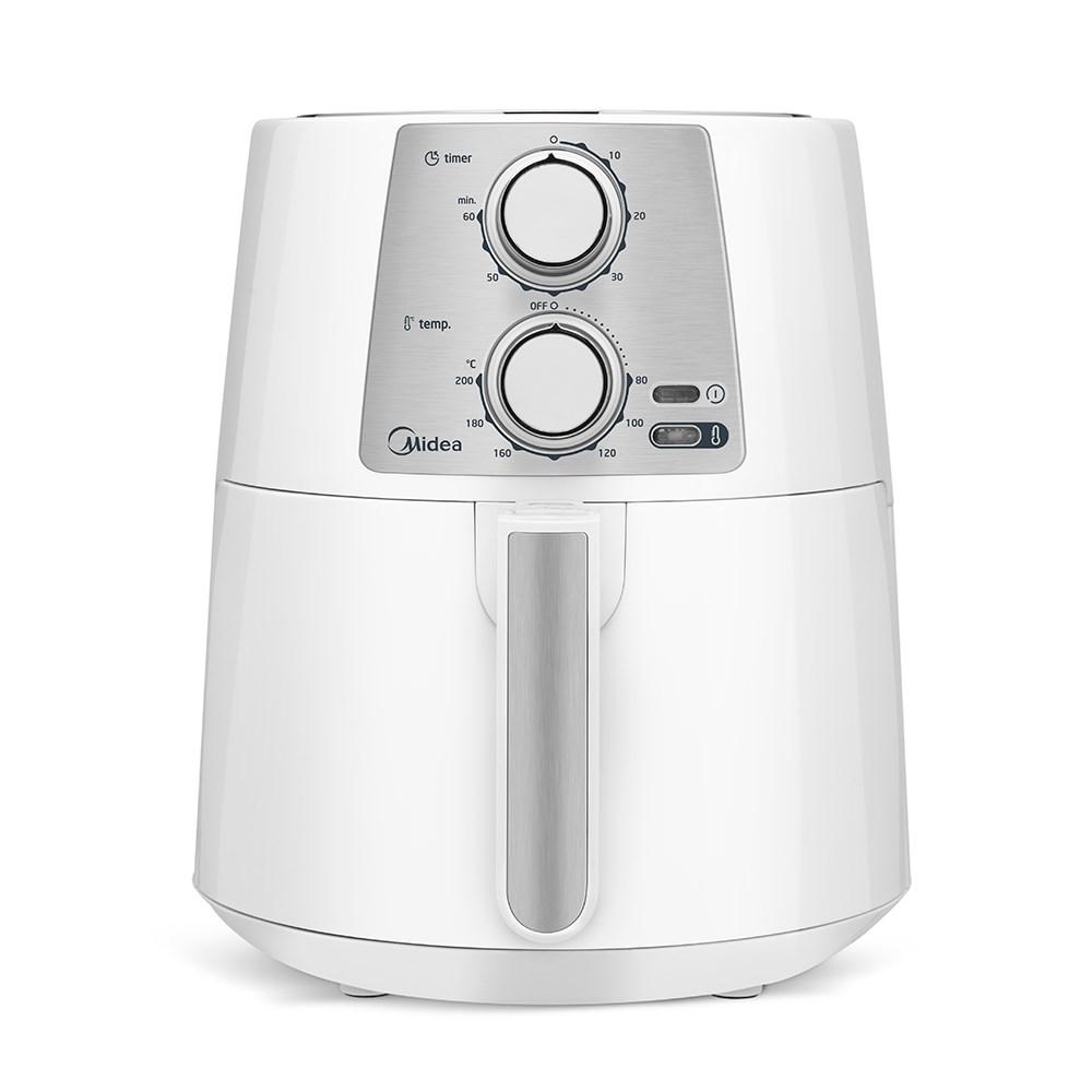 Fritadeira Elétrica sem Óleo Midea 3.5L com Timer - Branca 110v