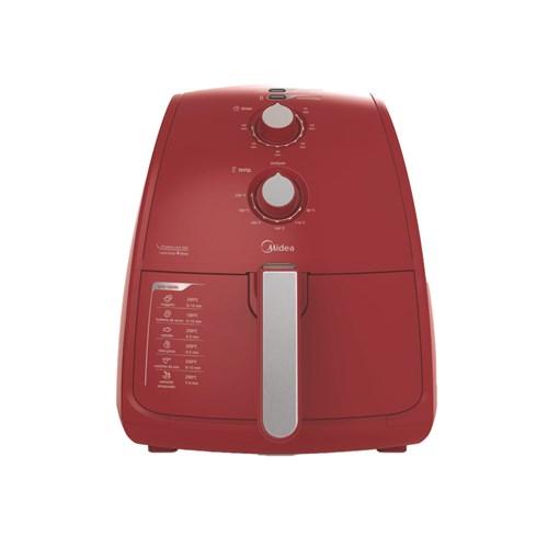 Fritadeira Elétrica sem Óleo Midea FRV41 - 1500w Vermelho 4L com Timer 110v