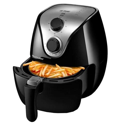Fritadeira Elétrica sem Óleo Multilaser Air Fry Gourmet CE13 - Preto 2,5L  1500w com Timer 110v