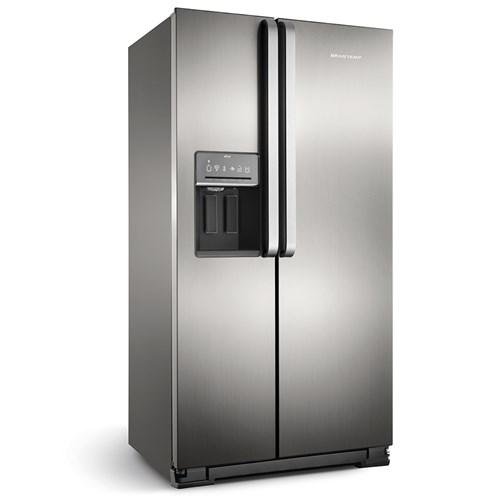 Geladeira/Refrigerador Brastemp Frost Free Side by Side - 560L BRS62CR Inox 110v