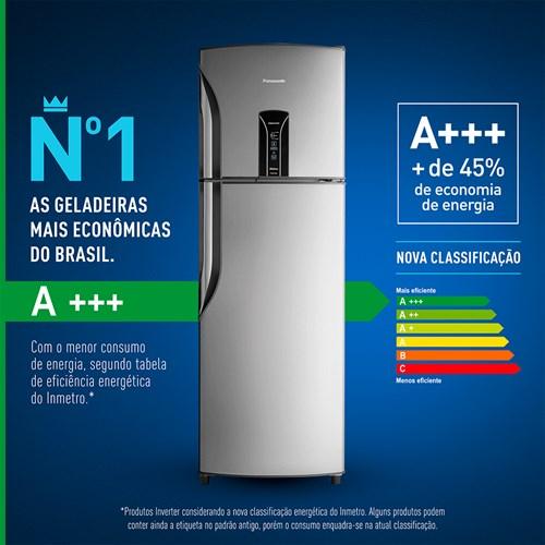 Geladeira/Refrigerador Panasonic Frost Free Duplex - 387L BT42B Inox 110v