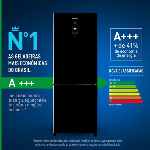 Geladeira/Refrigerador Panasonic Frost Free Duplex Inverter - Preto 480L BB71 110v