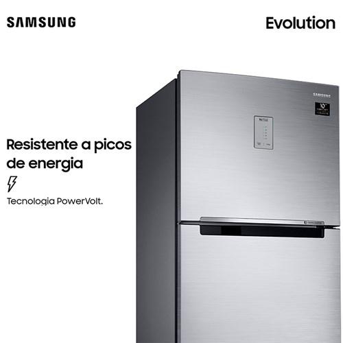 Geladeira Samsung Evolution RT38 com PowerVolt Inverter Duplex 385L Inox Look