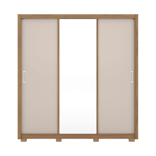 Guarda-roupa 03 Portas de Correr Demobile Residence - Amendola com Espelho