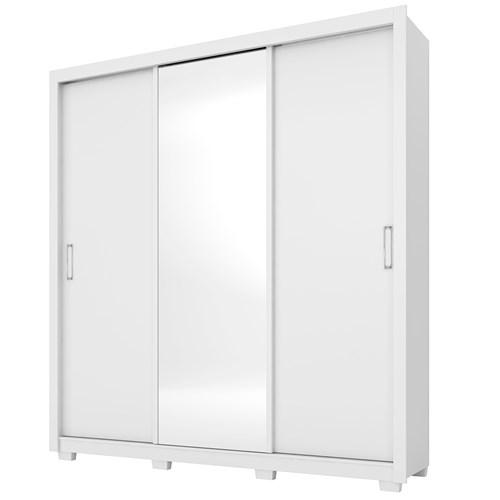Guarda-roupa 03 Portas de Correr Demobile Residence - Branco com Espelho