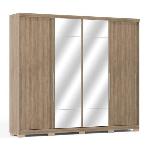 Guarda-roupa 04 Portas de Correr Kappesberg com Espelho F558 - Jacaranda