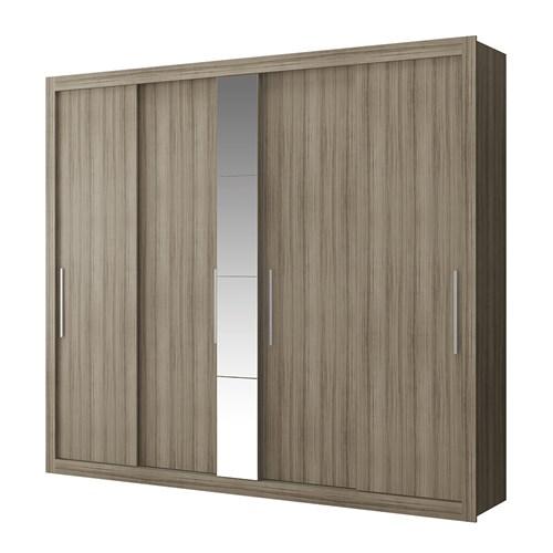 Guarda-roupa Casal 04 Portas de Correr Carraro - Baco 1073 com Espelho