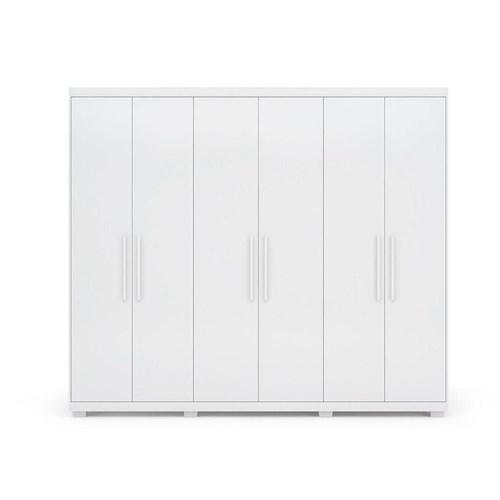 Guarda-roupa Casal 06 Portas Demobile Maestro - Branco