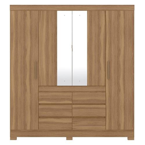 Guarda-roupa Demobile 04 portas Cadis - Amendola com Espelho