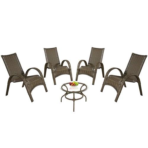 Jogo de Area WJ Rainha - 04 Cadeiras