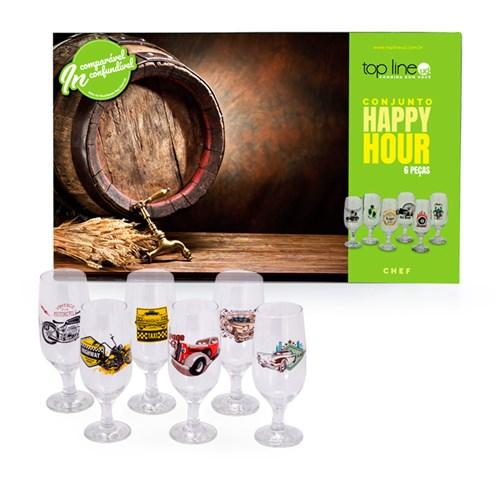 Jogo de Copos Top Line Happy Hour 6 Peças