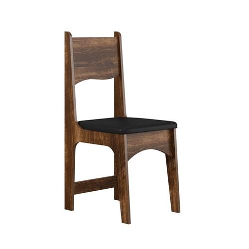 Jogo De Mesa 6 Cadeiras Sonetto Perola - Rústico / Preto