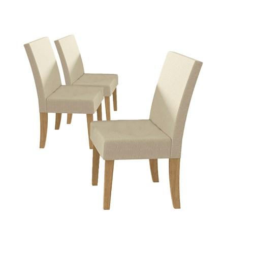 Jogo De Mesa Kappesberg 6 Cadeiras Star - Freijó / Branco CSJ713 / FR-A019