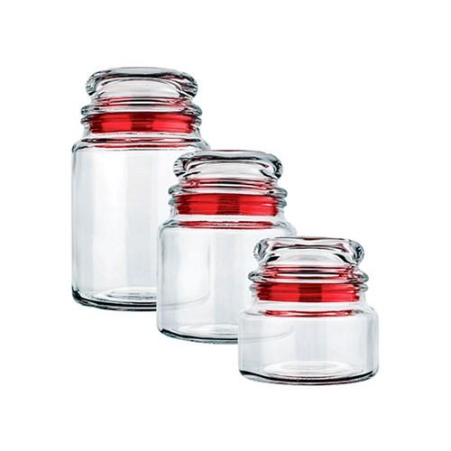 Jogo de Potes Euro Home Multiuso 03 Peças - VDR1129 Vermelho