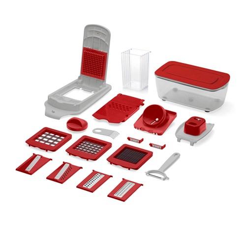 Kit Cortador de Alimentos UP 21 Peças - UD005 Vermelho