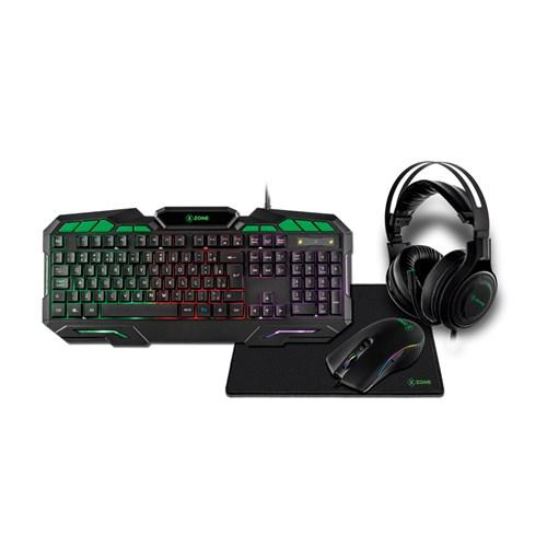 Kit Gamer Xzone 4 Em 1 - GTC-02 Preto
