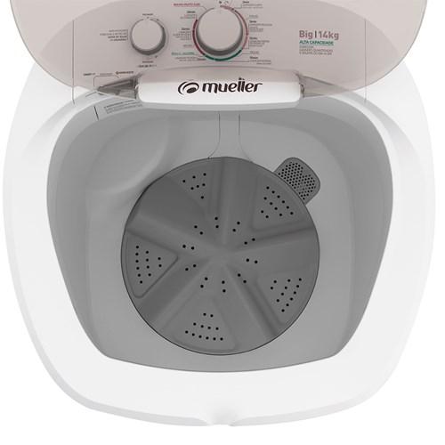Lavadora de Roupas Mueller Big 14Kg - Semiautomática 7 Programas de Lavagem Branca