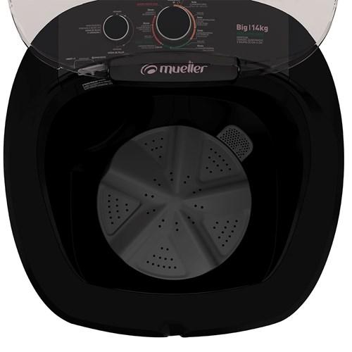 Lavadora de Roupas Mueller Big 14Kg - Semiautomática 7 Programas de Lavagem Preta 220v
