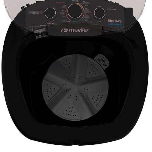 Lavadora de Roupas Mueller Big Aquatec 16Kg - Automática 7 Programas de Lavagem Preta 110v