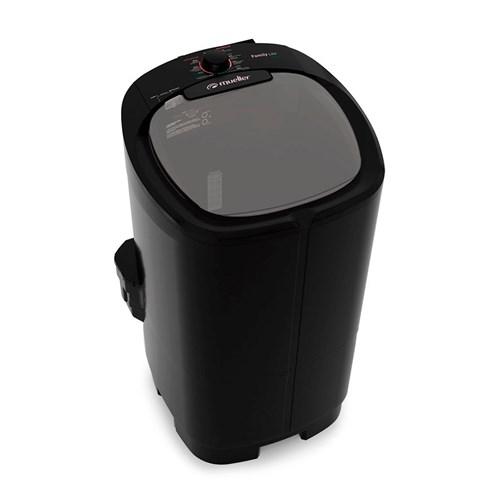 Lavadora de Roupas Mueller Family Lite 10K - Semiautomática 6 Programas de Lavagem 110v Preta