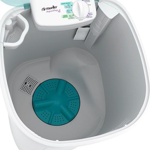 Lavadora de Roupas Mueller Super POP – Semiautomática 6 Programas de Lavagem Branca 110v