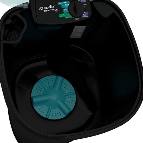 Lavadora de Roupas Mueller Super POP - Semiautomática 6 Programas de Lavagem Preta 110v