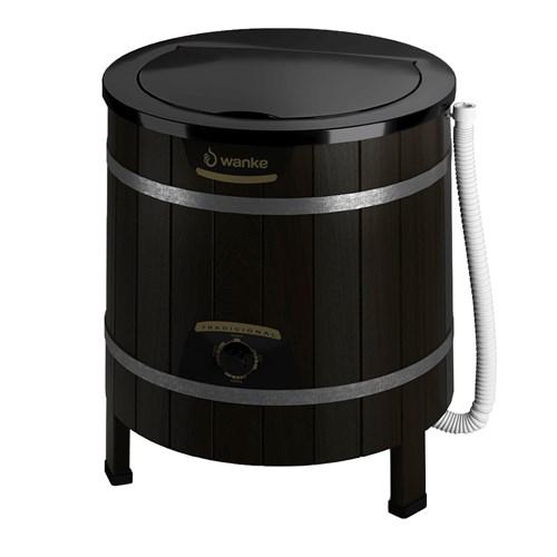 Lavadora de Roupas Wanke Tradicional II 5Kg - Semiautomática 3 Programas de Lavagem Preta 110v