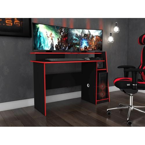 Mesa Gamer Movelbento Evolution MSM448 - Preto Vermelha