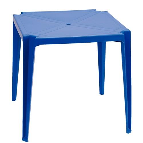 Mesa Plástica ZAP Quadrada Plus - Azul