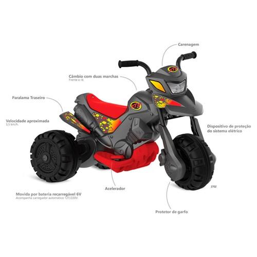 Moto Elétrica Fashion XT3 2701  - Grafite