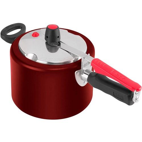 Panela de Pressão Polida 4,5 litros - Clock Vermelha