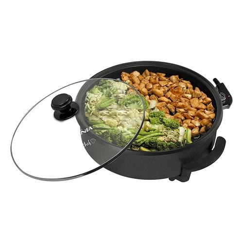 Panela Elétrica Britânia Cook Chef - Preta Controle de Temperatura 1200w 110v