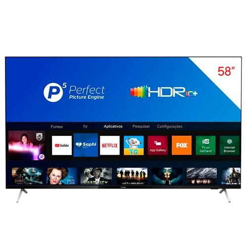"Philips Smart TV 4K 58PUG7625 58"" HDR10+ - Controle Remoto Wifi e Bluetooth"