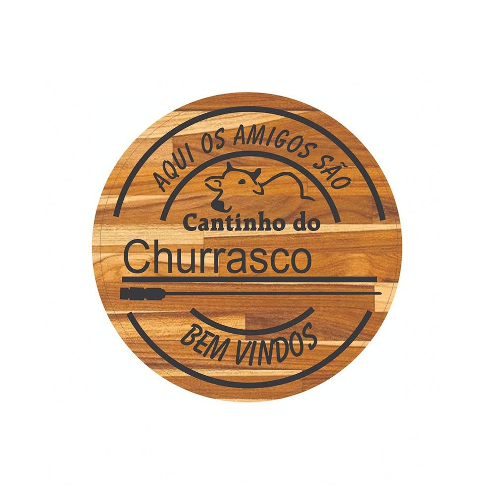 Placa decorativa Cav Cantinho do Churrasco - 1046