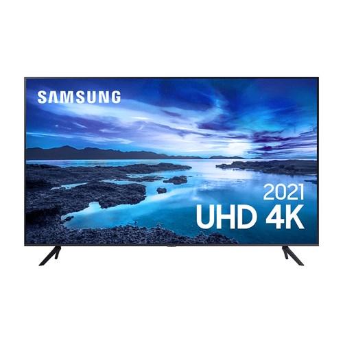 "Samsung Smart TV 4K UHD UN43AU7700 43"" LED - HDR10+ Controle Remoto e Bluetooth"