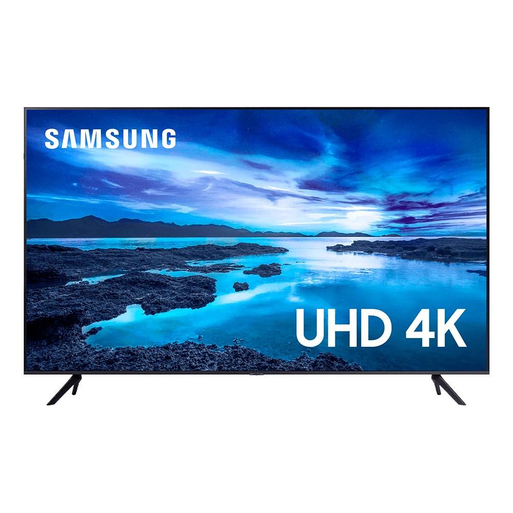 "Samsung Smart TV 4K UHD UN50AU7700 50"" LED - HDR10+ Controle Remoto e Bluetooth"